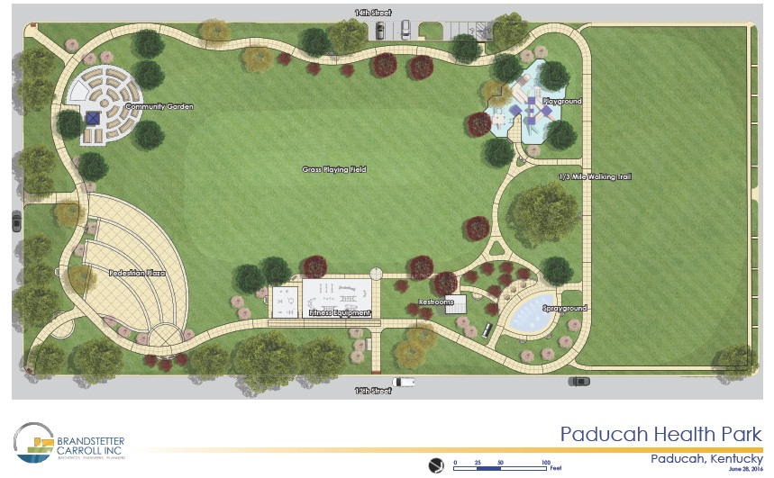 Health Park rendering in color