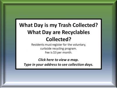 trash and recyclables collection day