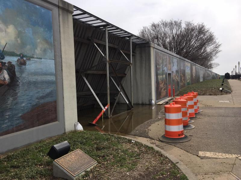 Broadway floodgate on March 9, 2018