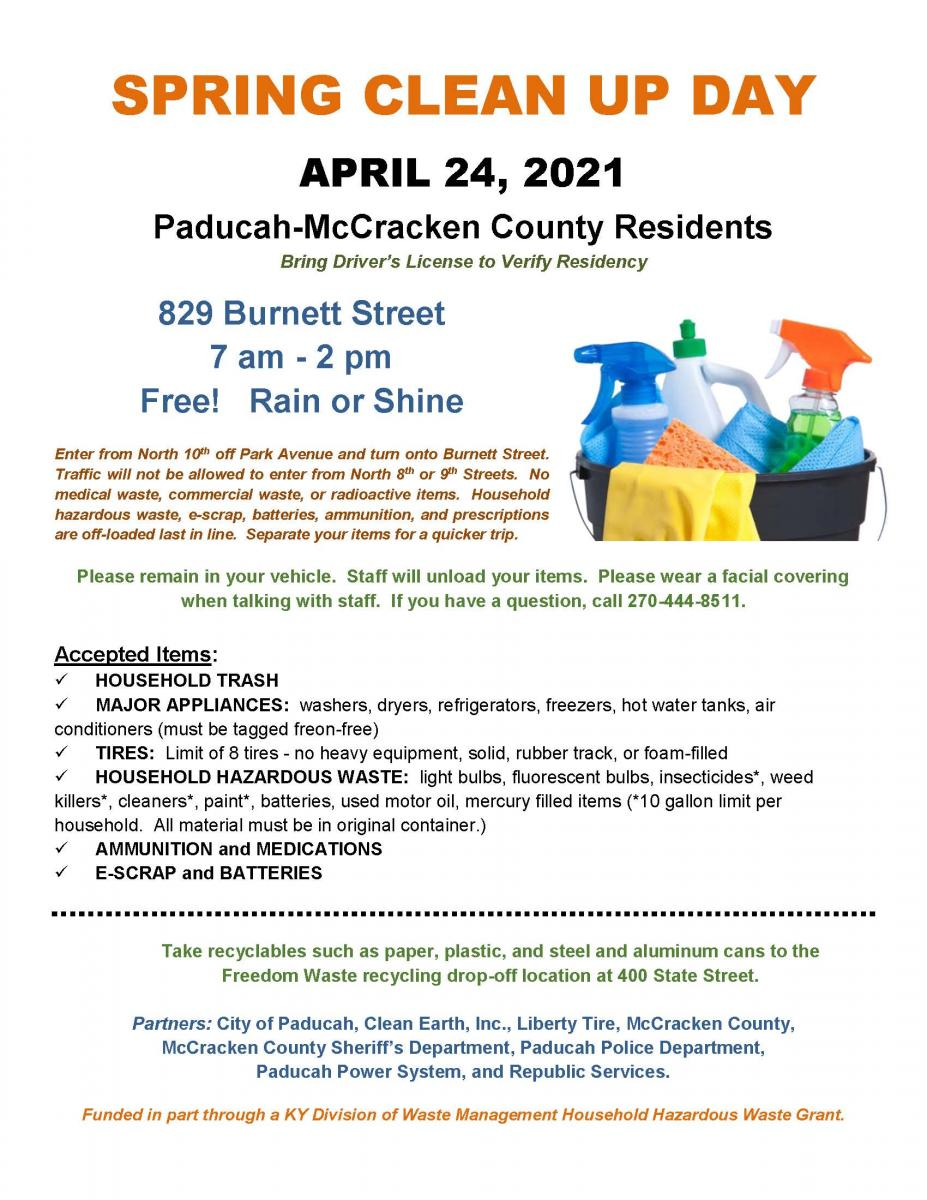 spring clean up day flyer