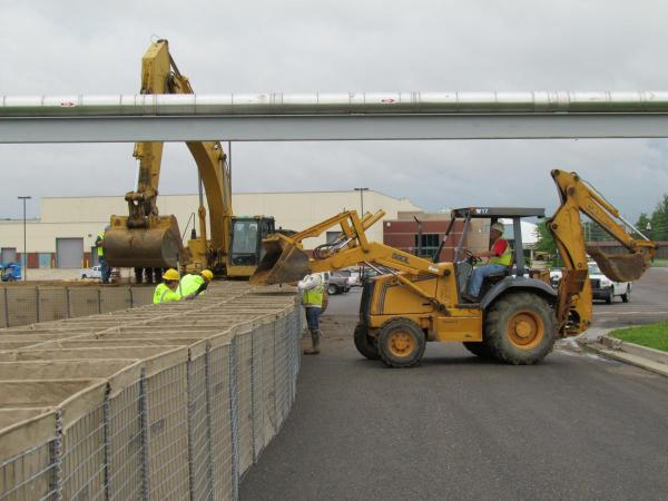 2011 installation of flood barriers