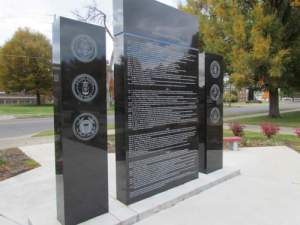 Back of Korean War Monument