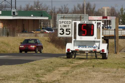 Roadside speed trailer