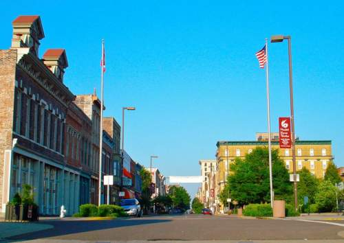 Broadway in downtown Paducah